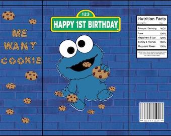 Cookie Monster chip bag