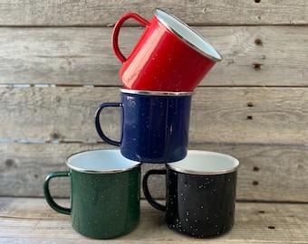 large enamel mug