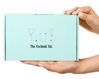 Cocktail Gift Box - Craft Cocktail Kit Gift Box! Cocktail Kit, carry on cocktail, craft cocktail kit, travel bar kit, kit barman, Gift