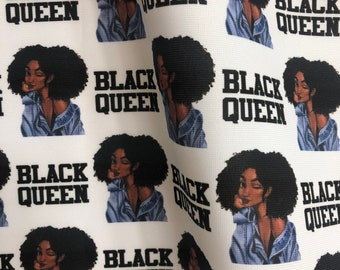 Fabric, printed fabric - Black Queen!