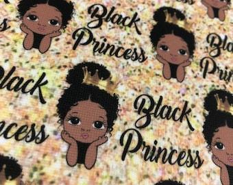 Fabric, printed fabric - Black Princess!