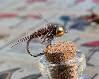 Half Dozen Nymphs 6 Bead Head Flash Back Copper John #10