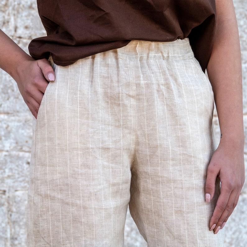 Loose Linen Unisex Pants Women Linen Trousers Linen Clothing Unisex Womens Linen Trusers Natural Pants Ivory Linen Pants For Womens
