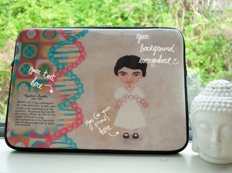 Get your own COMPLETELY ORIGINAL ILLUSTRATION Customised Laptop Sleeve 13 and 15 inches