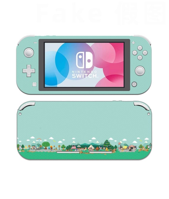 Cute Animal Crossing Town Nintendo Switch Lite Skin Nintendo Etsy