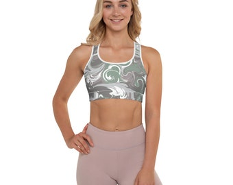 Fit Bee Winter Snowflake Pattern Sports Bras Summer Yoga Running Crop Tank Top