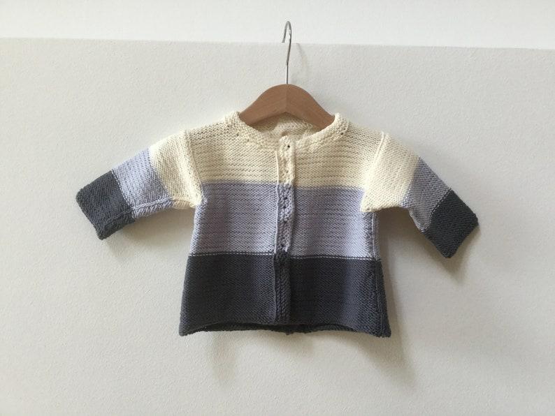 hand knitted sweater merino baby sweater LUIS AND LUISA baby jacket baby cardigan knitted baby jacket