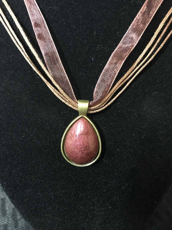 Bronze Oval Necklace