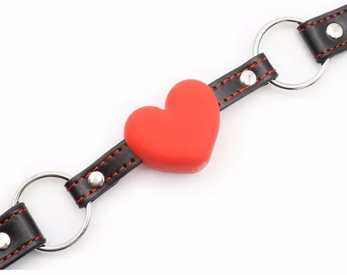 Red Silicone Heart Gag