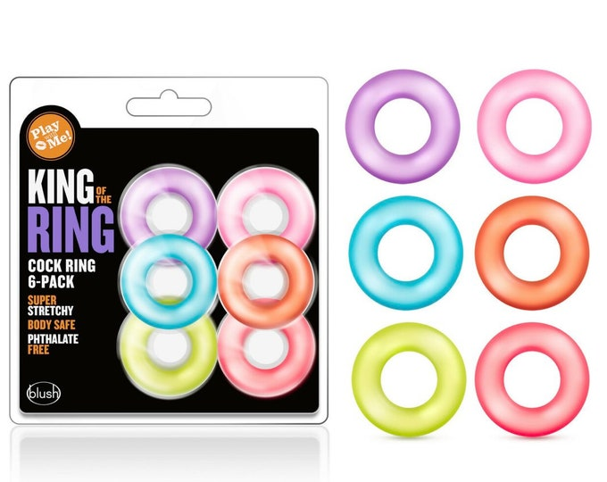 Play With Me - King of the Ring Cock Ring 6 Pack