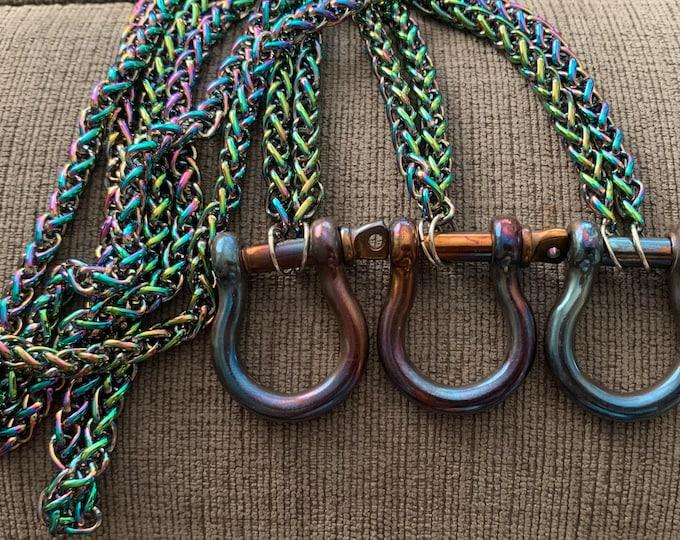 Rainbow Chainmaille Collar