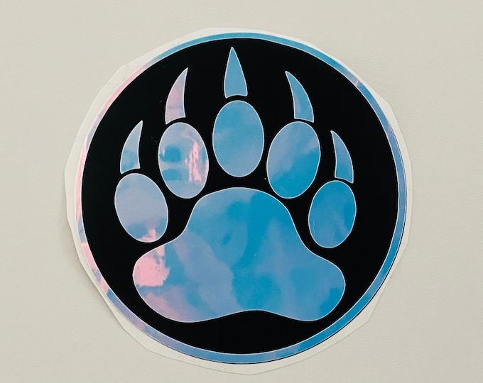 Irridescent Bear Pride Vinyl Sticker