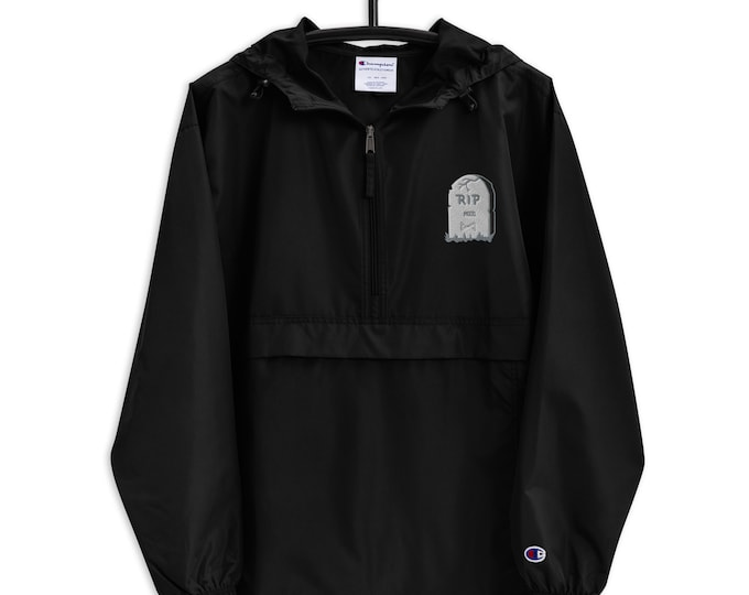 R. I. P. Mood Embroidered Champion Packable Jacket
