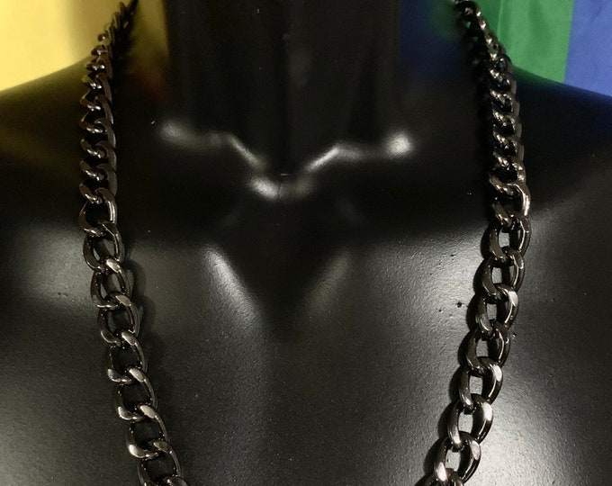 Gunmetal Thick Chain Necklace