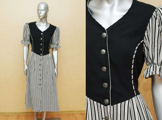 Dirndl dress bavarian oktoberfest dress  42 size m