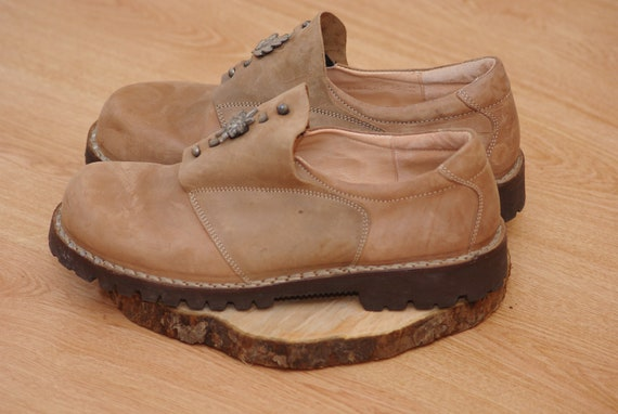 Vintage  Think shoes size 45,Leather Bavarian Tra… - image 3