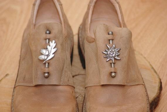 Vintage  Think shoes size 45,Leather Bavarian Tra… - image 7