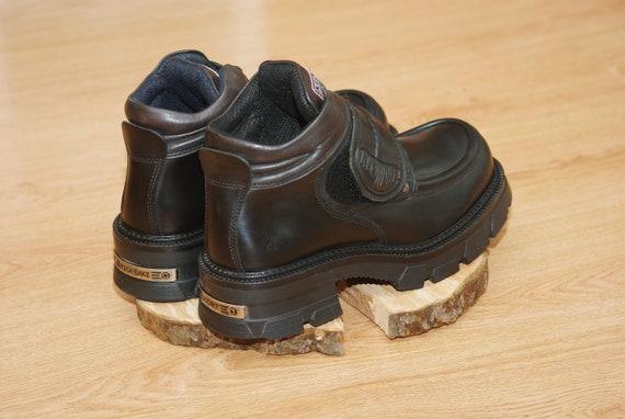 Vintage platform black boots size 43,New Rock 90's