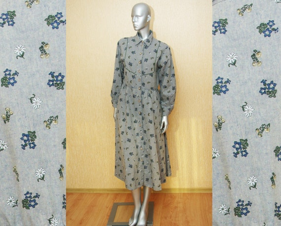 Angelika Moden 90s Vintage cotton linen shirtdress