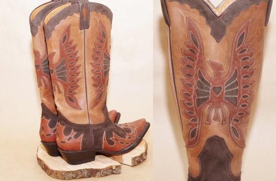 Vintage Buffalo cowboy boots size 40,Vintage BUFFA