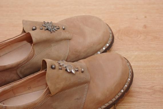 Vintage  Think shoes size 45,Leather Bavarian Tra… - image 6