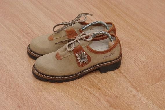 Vintage Trachten Style Shoes Men/'s Brown Leather Dirndl Austrian Folk Boots Loden Traditional Bavarian Tyrolean Oktoberfest Oxford size EU46