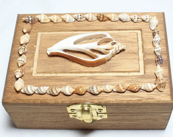 Solid wood nautical collection box