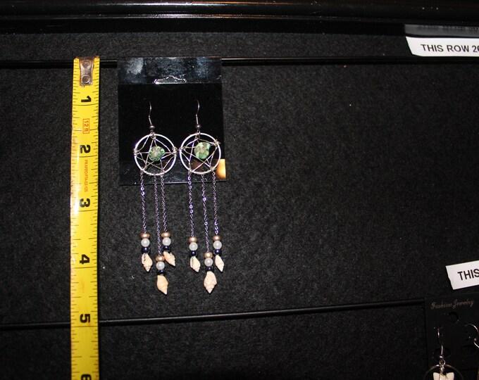 Green Dreamcatcher Earrings