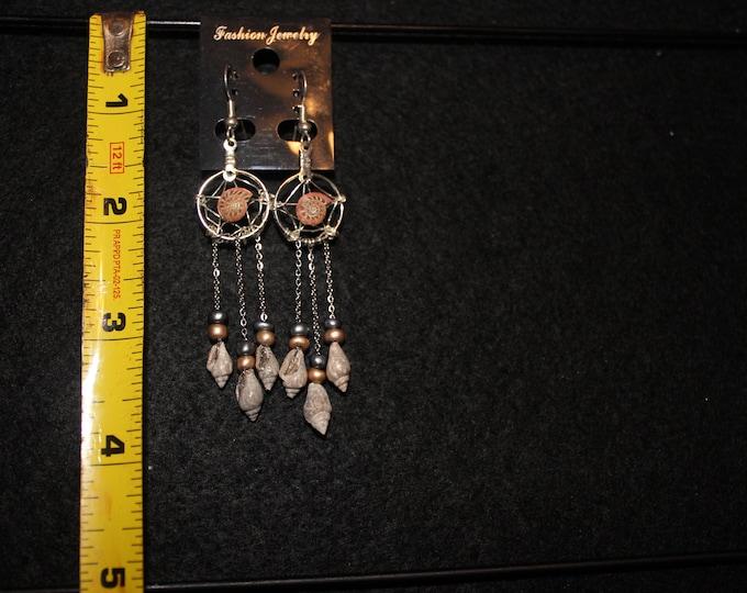 Rose Dreamcatcher Earrings