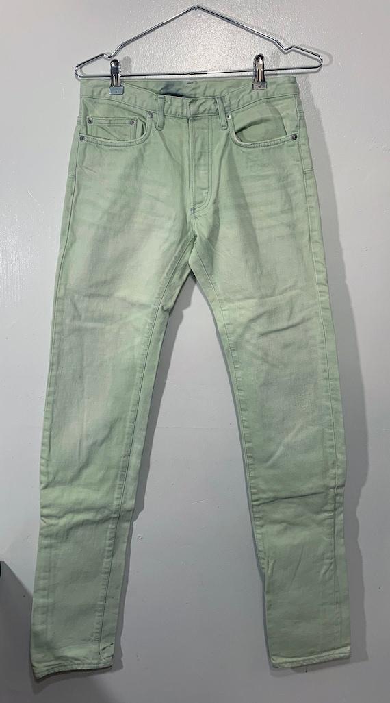 Dior Mens Jeans Green Mint