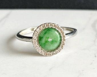 band grade A Burmese \u7fe1\u7fe0 grade a icy no treatment natural Jadeite ring certified imperial green