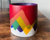 SECONDS Pride Mountain Planter Reversed Upside Down Rainbow Planter Size Small