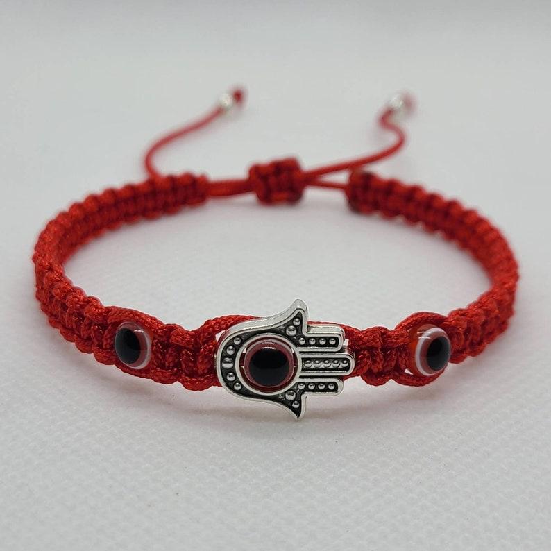 Hamsa hand evil eye bracelet  Mano de fatima