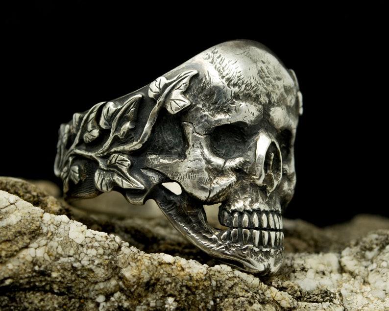 Skull Ring for Men Silver Jewelry Handmade image 0