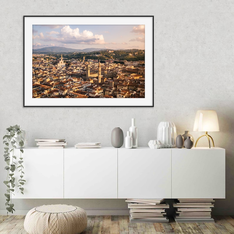Minimal Sunset Landscape Photography Colors Architecture Wall Art Italy Bedroom Florence Photography Wall Decor Cities