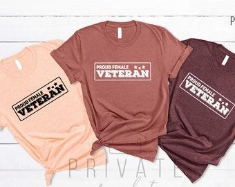 Female Veteran Shirt,Memorial Day Shirt,Veteran Day Gift For Women,4th of July Shirt,Patriotic Military Shirt,Gift for Veteran,Strong Women