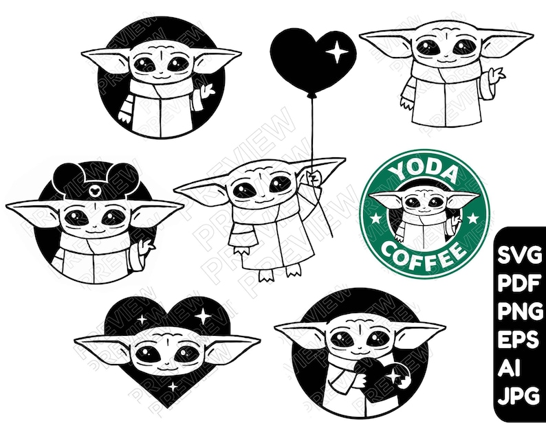 183+ Svg Baby Yoda Free – SVG Bundles