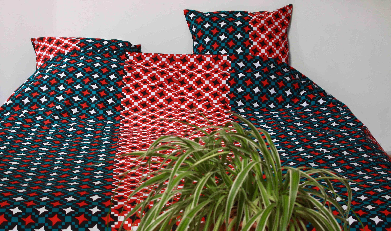 Parure de lit Chabert - Création Unique - 100% coton