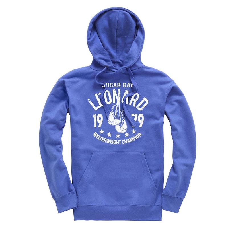 Sugar Ray Leonard Royal Blue Training Boxing Premium Hoodie Hoody Hooded Top