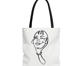 The Funky Spork B/W Tote Bag