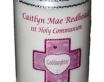 Goddaughter 1st Holy Communion Candle personalised gift