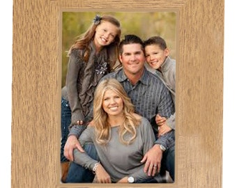 Gift For those you are apart from Personalised Gift beautiful  Oak Finish engraved photo frame  for 6 x 4 photo