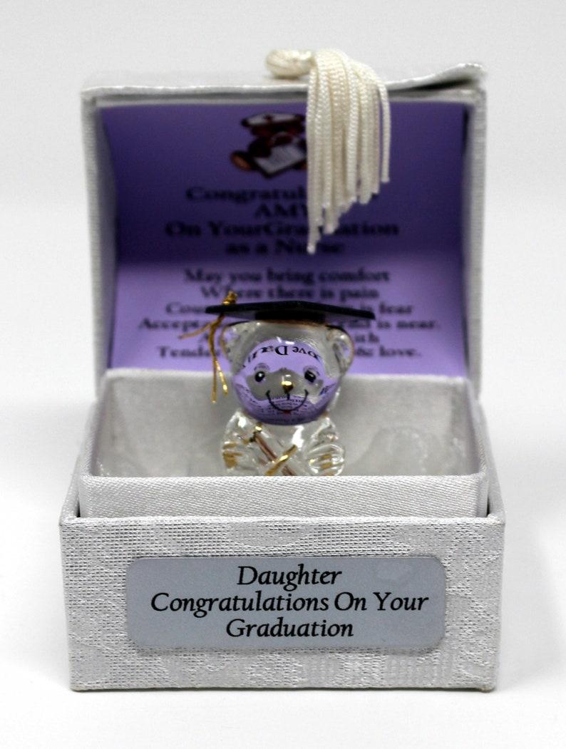 Nurse Graduation personalised gift Crystal Glass Keepsake image 0