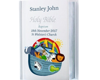 Baptism personalised gift perfect gift  Children's 1st Bible King James's version  baby Girl or baby Boy keepsake