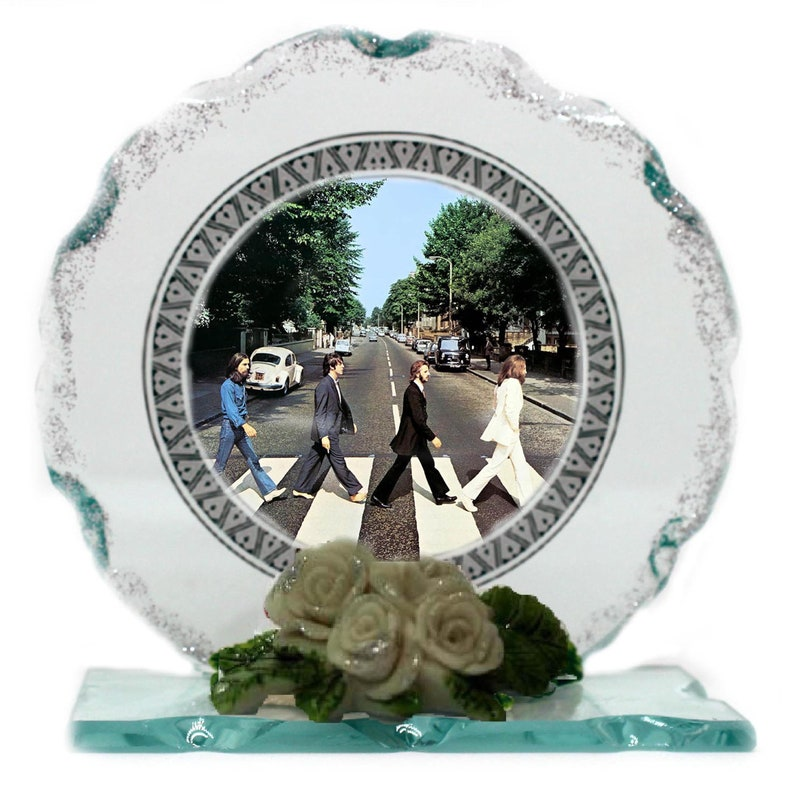 The Beatles Cut Glass Photo Plaque Edition Collectable gift image 0