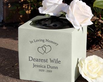 Memorial Grave vase or Grave Ornament personalised