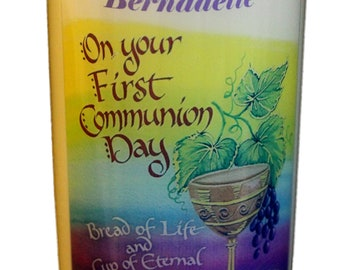 1st Holy Communion Candle personalised gift