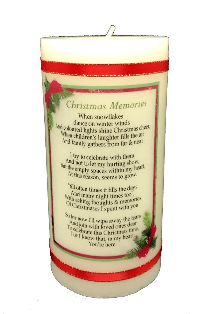 Christmas Memorial Candle with beautiful Memorial Poem image 0