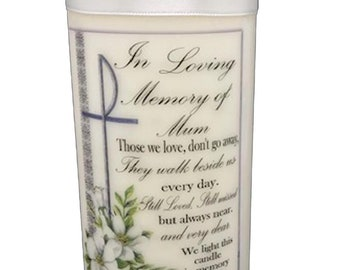Personalised Wedding absence candle in loving memory of those who cannot be with you on your special day