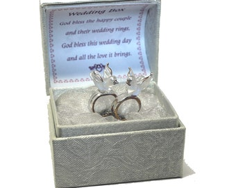 Doves & Rings Keepsake box  for the happy couple on their wedding day gift